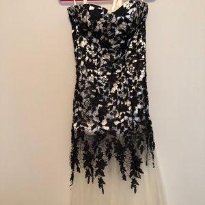 Illusion mermaid gown